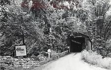 Real Photo PC Covered Bridge at Cataract Falls, Cloverdale, Ind. 3-A4 LL Cook Co