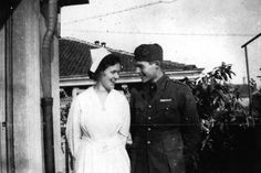 Hemingway and nurse.