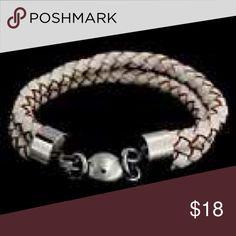 NEW! STAINLESS STEEL WHITE LEATHER BRAID BRACELET New! Stainless steel braided white leather bracelet by STEEL BY DESIGN! One size. STEEL BY DESIGN Jewelry Bracelets