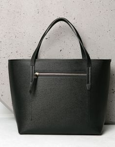 Basic Saffiano style bag. Discover this and many more items in Bershka with  new products 8d75494fed0a4