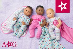 Choose from six Bitty Baby dolls with accessories with different eye, skin, and hair color, and bring her home with a sleeper of your choice from American Girl. Twin Babies, Twins, Baby Dolls For Toddlers, Bitty Baby Clothes, Baby Doll Accessories, 10 Birthday, Girl Dolls, American Girl, Iphone Wallpaper