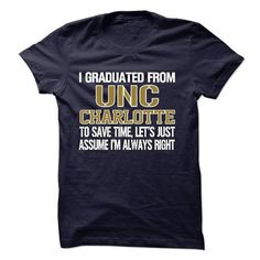 GRADUATED FROM UNC Charlotte !!! - #loose tee #tshirt flowers. PURCHASE NOW => https://www.sunfrog.com/LifeStyle/GRADUATED-FROM-UNC-Charlotte-.html?60505