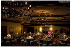 Country club wedding reception in the ballroom of Ridgewood country club.