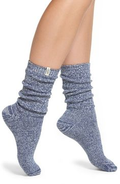Lounging around the house is cozy and comfortable with these UGG Australia socks. My Socks, Crew Socks, Blue Socks, Comfy Casual, Casual Bags, Luxury Shoes, Sock Shoes, Ugg Boots, Autumn Winter Fashion