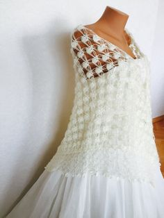 A personal favourite from my Etsy shop https://www.etsy.com/listing/228007302/bridal-ivory-shawl-bride-accessories