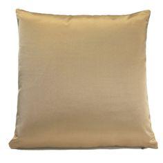 $35  18x18  Light Gold, Beige Pillow, Throw Pillow Cover, Decorative Pillow Cover, Cushion Cover, Pillowcase, Accent Pillow, Toss Pillow, Silk Blend