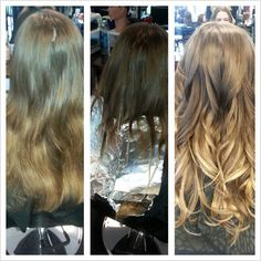 natrual root color with lightened ends....natural ombre