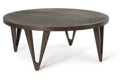 "Hudson 42"" Round Coffee Table, Tobacco"