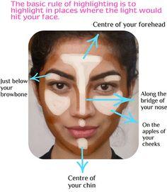 Contouring Highlighting Hacks, Tips, Tricks, Pictures; How To – Contouring and Highlighting Contour Makeup, Contouring And Highlighting, Skin Makeup, Face Contouring, Love Makeup, Makeup Tips, Makeup Tutorials, Makeup Hacks, Makeup Ideas
