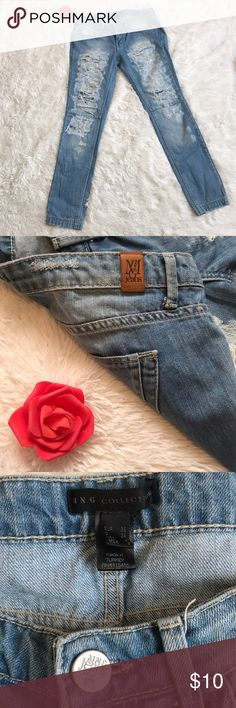 MNG Destroyed Jeans Light blue ripped jeans size:  EUR36, D33, USA4, MEX3 mng jeans Jeans Straight Leg