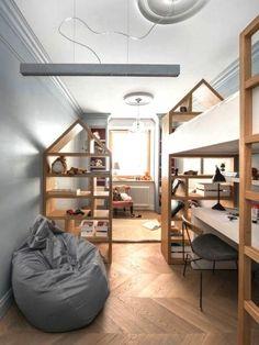 Top Stylish Scandinavian Kid's Room Design Ideas - Page 50 of 99 Scandinavian Kids Rooms, Ideas Habitaciones, Room Interior, Interior Design, Minimalist Kids, Baby Room Design, Boy Room, Kids Bedroom, Home Decor