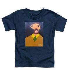 Patrick Francis Navy Blue Designer Toddler T-Shirt featuring the painting Portrait Of Eugene Boch 2015 - After Vincent Van Gogh by Patrick Francis