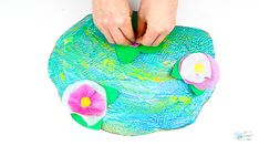 Easy, yet effective Claude Monet Water Lilies Art Project for Kids is painted with a spoon! adding fun and experimentation to kids exploring famous artists. Art Lessons For Kids, Artists For Kids, Projects For Kids, Art For Kids, Art Projects, Crafts For Kids, Project Ideas, Craft Ideas, Monet Water Lilies