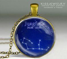 Sternbild Horoskop  Kette von KISS Knowledge Is So Sexy auf DaWanda.com