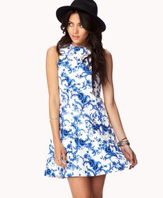 Essential Floral Brocade Dress