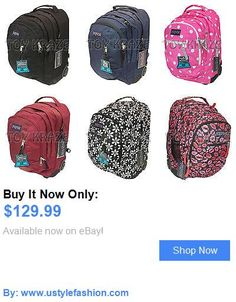 Unisex accessories: Jansport Driver 8 Rolling Backpack 100% Authentic School Laptop Travel Bag Nwt BUY IT NOW ONLY: $129.99 #ustylefashionUnisexaccessories OR #ustylefashion