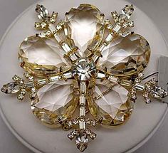 Snowflake with Unfoiled Pears - Certainly the most magnificent snowflake brooch that Eisenberg has ever carried.