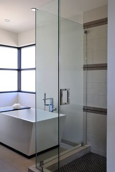 Once again the Cube confirms its modernist bona fides in this contemporary California bathroom by @mfullendesign.