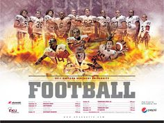 sports graphic design for 2011 EKU football poster