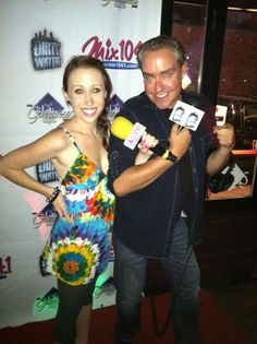Dirty Water TV's Kayla Harrity with Mix 104.1's Fast Freddie