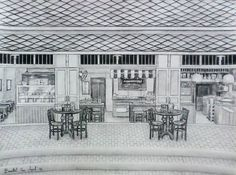 Fountain pen on paper. Landscape Sketch, Paper Size, Fountain Pen, Fountain Pens
