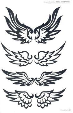 Wing Tattoo Designs, Owl Tattoo Design, Mini Tattoos, Body Art Tattoos, Tribal Wings, Tribal Heart, Eagle Wallpaper, Tribal Arm Tattoos, Wings Drawing