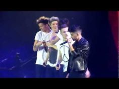 One Direction - She's Not Afraid- All of Zayn's special voice stuff is so good. You dont always notice it because it is in the background but it is just fab! Oh, how about 1:08!? Just wait for it. It's cute.