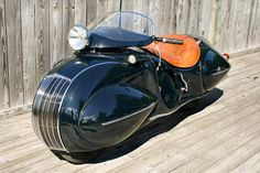 Custom built Henderson motorcycle from the 30's