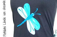 Hibiskus, Libelle und Kolibri, Set mit 3 Motiven (sticken oder plottern) hier geplottert von Fivekidz