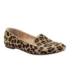 Trend: Smoking Slippers—Lands' End Leopard Flats in Calf Hair and Leather