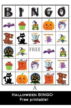 Halloween Bingo - Great for Class Parties
