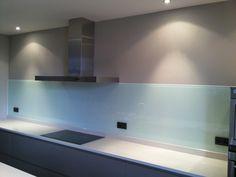 Glazen gekleurde spatwand keuken - Realisaties