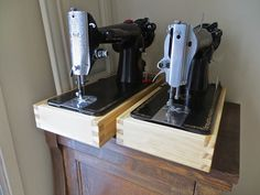 The Project Lady: Singer Sewing Machine Wood Base Tutorial (Pictures of Building Process)