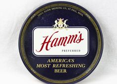 Vintage 1970s Hamms Beer Tray Barware by RiverRatAntiques on Etsy