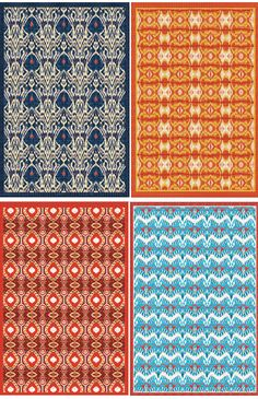Amazing ikat rugs by Charlotte Moss for Stark.