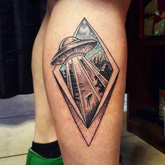 Awesome UFO Tattoo by Jason Charlebois