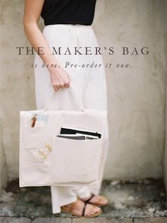 the maker's bag. perfect glam tool bag for artists, designers, floral designers, and makers | signora mare