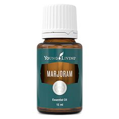 (Origanum majorana) has a woody, spicy, camphoraceous aroma. A calming oil, it has a warming effect, which is relaxing for nervous and muscular tension.