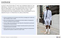 Een artikel in eigen bezit over dat mannen meer oog hebben voor fashion en vrouwelijke rollen overnemen
