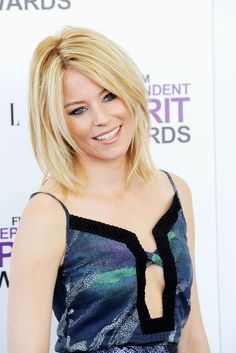 More Angles of Elizabeth Banks Medium Layered Cut - StyleBistro