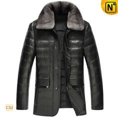Warm Genuine leather down jacket for men with New Zealand sheep skin leather shell and warm down fill, removable mink fur collar winter leather coat, keep you out the winter chill! Leather Coat With Fur, Mens Leather Coats, Men's Leather Jacket, Leather Jackets, Mens Winter Parka, Winter Coats, Mens Casual Suits, Mens Down Jacket, Mens Outdoor Clothing