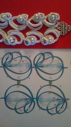 Risultato immagine per Tatting Jewelry Patterns Tatting Armband, Tatting Bracelet, Tatting Earrings, Tatting Jewelry, Tatting Lace, Crochet Earrings, Shuttle Tatting Patterns, Tatting Patterns Free, Lace Patterns