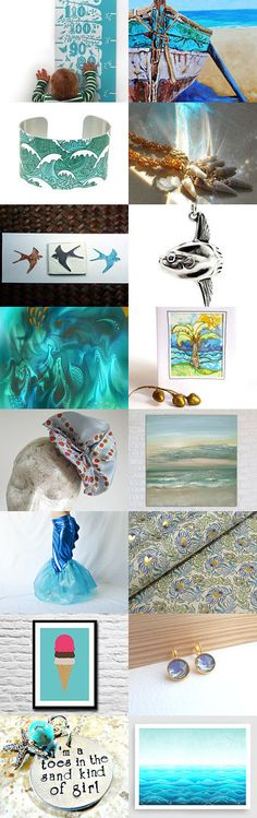 ⋆★⋆ Oceanic Daydreams  ⋆★⋆ by kelly spider on Etsy--Pinned with TreasuryPin.com