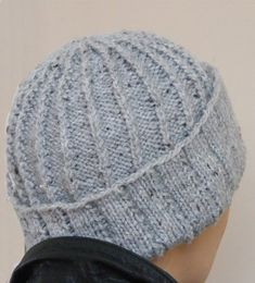 Knotted Rib Hat Purl side