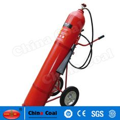chinacoal03 MS-FE-02 Wheeled Fire Extinguisher Carbon Dioxide extinguishers are filled with non-flammable carbon dioxide gas under extreme pressure. You can recognize a CO2 extinguisher by its hard horn and lack of pressure gauge. The pressure in the cylinder is so great that when you use one of these extinguishers, bits of dry ice may shoot out the horn. CO2 cylinders are red and range in size from 5 lbs to 100 lbs or larger. In the larger sizes, the hard horn will be located on the end of…