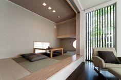 和室・畳コーナー 04 Modern Japanese Interior, Japanese Modern, Japanese House, Washitsu, Tatami Room, Small Space Storage, Basement Renovations, Industrial House, Small Spaces
