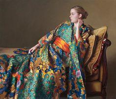 "Evan Wilson (1953- ) ""The Peacock Kimono"""