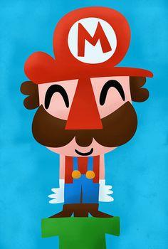 heyoscarwilde:    Here we go!  Mario illustrated byPablo Ruedachan:: viaflickr.com