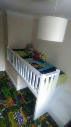 Built in bed box room this is exactly what we want it has a safety guard . built in bed box room Stair Box In Bedroom, Boys Bedroom Storage, Baby Room Storage, Small Room Bedroom, Kids Bedroom, Toy Storage, Storage Ideas, Small Rooms, Box Room Bedroom Ideas For Kids