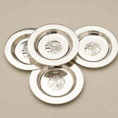 Gallery 925 - Set of 4 Georg Jensen coasters No. 846, Handmade Sterling Silver.